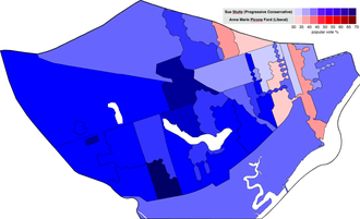 Sue Stultz - Moncton West's poll-by-poll winners for the 2010 New Brunswick election.