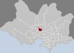 Location of Sayago in Montevideo