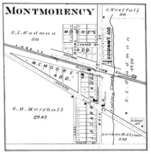 Montmorenci, Indiana - Image: Montmorenci, Indiana 1878