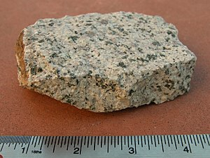 Monzonite - Monzonite specimen from Rock Library (NASA JPL)