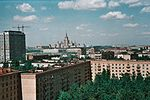 Moscow State University view from DSK Kravchenko 7 Moscow May 1981.jpg