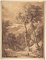 Mountainous Landscape with a Party of Travellers (Scene on the River Pellene Achaia) MET DP800025.jpg