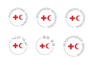 Emblems of the International Red Cross and Red Crescent Movement - In addition to the flags of individual Societies and the ICRC, the Movement introduced its own multi-lingual logo in Arabic, Chinese, English, French, Russian, and Spanish in 2016.