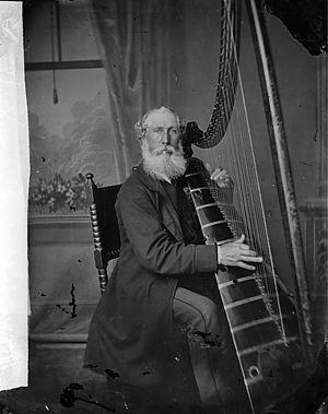 Triple harp - Image: Mr Roberts, Newtown Harpist NLW3361216