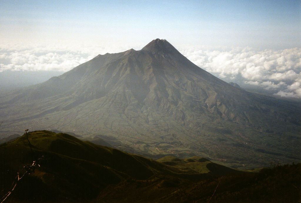 Mt Merapi from Mt Merbabu