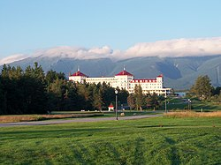 Mount Washington Hotel at the foot of the Presidential Range in 2010