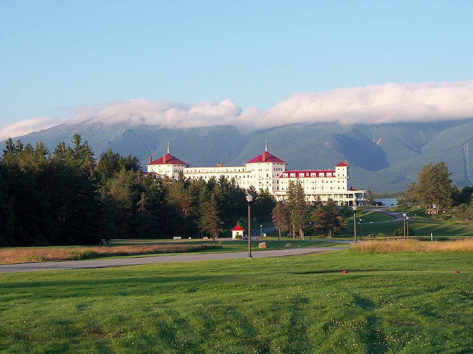 Mount Washington Hotel at the foot of the Presidential Range in September 2010