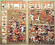Muhammad destroying idols - L'Histoire Merveilleuse en Vers de Mahomet BNF