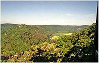 Údolí Dyje z Hardeggské vyhlídky