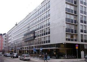 Storgatan, Stockholm - Storgatan to the west, seen from Näringslivets hus.