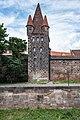 Nürnberg, Stadtbefestigung, Frauentormauer am Mauerturm Rotes M 20170616 002.jpg