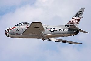 North American FJ-4 Fury - The last flying FJ-4 in United States Navy colors