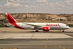 N784AV Avianca Boeing 787-8 Dreamliner departing to Bogota (BIG) @ Madrid - Barajas (MAD) - 22.08.2015 (22598489772).jpg