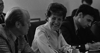 Ralph Nader - Nader, far right, at a meeting with Sylvia Porter, and U.S. president Gerald Ford in 1974.