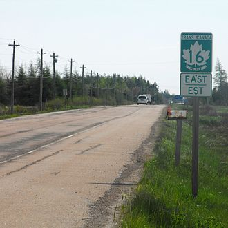 State highway - A Canadian Trans-Canada highway sign with a provincial numbered route