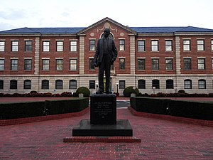 North Carolina Central University - Statue of NCCU founder James E. Shepard. James E. Shepard was also a pharmacist, civil servant and educator. He served as the first president of NCCU for nearly 40 years.