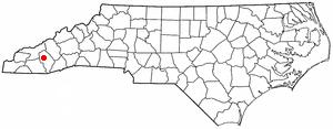 Dillsboro, North Carolina - Image: NC Map doton Dillsboro