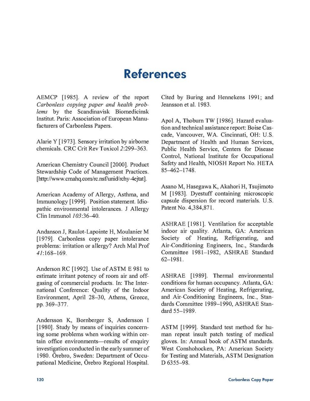 page niosh hazard review of carbonless copy paper pdf 141