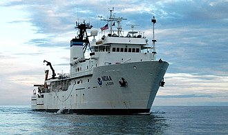 USNS Indomitable (T-AGOS-7) - NOAAS McArthur II (R 330) sometime between 2003 and 2009