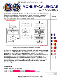 NSA MONKEYCALENDAR