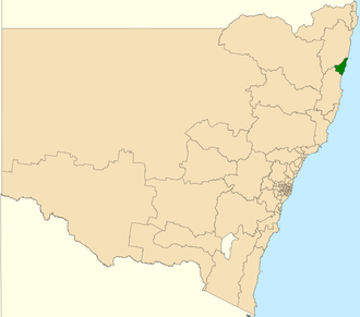 Electoral district of Coffs Harbour - Location in New South Wales
