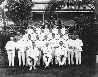 Alfred John Tattersall - Image: NZ police in Samoa during Mau uprising ca 1930 AJ Tattersall