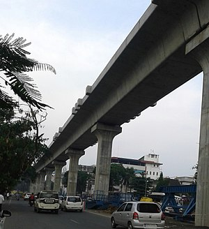 Nagpur Metro - Viaduct of Nagpur Metro near chattrapati flyover