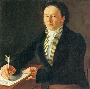 Porträt des Komponisten Ludwig (Louis) Spohr 1824 in Kassel von Johann August Nahl dem Jüngeren (Quelle: Wikimedia)