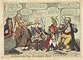 Napoleon als barbier voor Europese machten, 1806 The Continental Shaveing Shop (titel op object), RP-P-1990-262.jpg