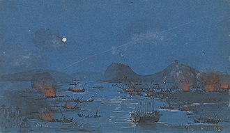 Battle of Fatshan Creek - Image: Naval action, Fatshan Creek
