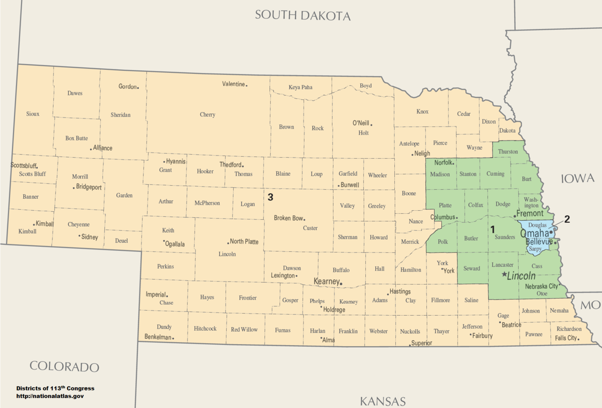Nebraska S Congressional Districts Wikipedia