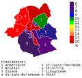 Nederlandstaligen in Brussels Hoofdstedelijk Gewest op basis van federale verkiezingen 10 juni 2007.PNG