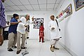 Nemai Ghosh Accompanied By Biswatosh Sengupta Visiting 1st Four Ps Group Exhibition - Kolkata 2019-04-17 5252.JPG
