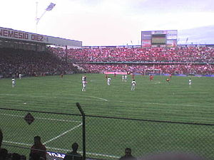Football in Mexico - Toluca playing against Guadalajara in the Estadio Nemesio Diez
