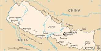 Outline of Nepal - An enlargeable basic map of Nepal