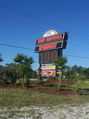New Smyrna Speedway - New Smyrna Speedway's sign