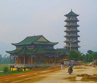 "Huangshi - Qing Long Ta (the ""Purple Dragon Pagoda"") under construction in Daye"