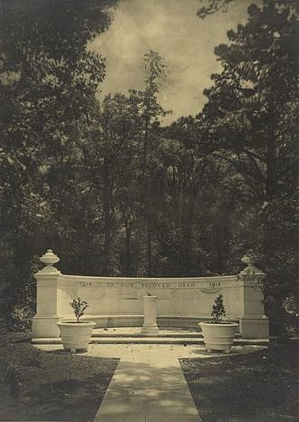 William Hardy Wilson - Harold Cazneaux photograph of Newington College War Memorial, designed by Wilson.