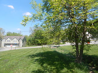 Sussex Railroad - Newton station site in May 2015