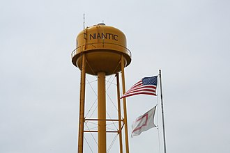 Niantic, Illinois - Image: Niantic Illinois Water Tower