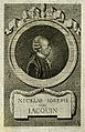 Nicholas Joseph, Freiherr von Jacquin. Line engraving by J. Wellcome V0003039.jpg