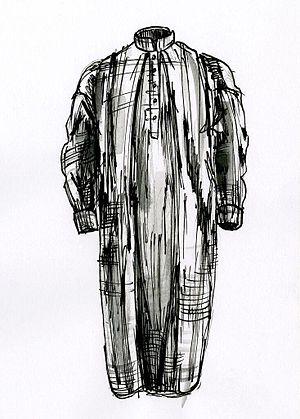 Nightshirt - Drawing of a nightshirt, by David Ring.