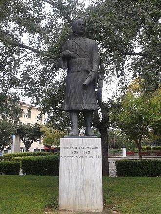 Nikolaos Kasomoulis - Statue of Kasomoulis in Thessaloniki