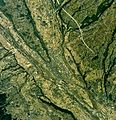 Nirasaki city center area Aerial photograph.1976.jpg