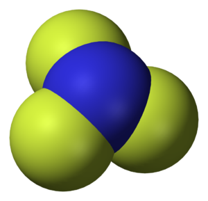 Nitrogen trifluoride - Image: Nitrogen trifluoride 3D vd W