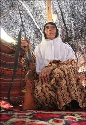 Nomadic hunter woman