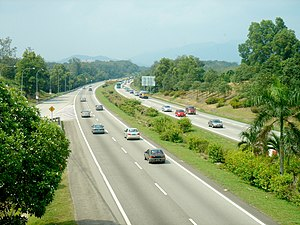 Transport in Malaysia - The 966 km North–South Expressway, which runs through seven states in Peninsular Malaysia, is the longest expressway in Malaysia.