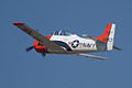North American T-28B Trojan Navy N63NA Enemy Forces Suppression 2nd Pass 05 TICO 13March2010 (14413083537).jpg