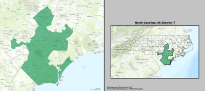 North Carolina's 7th congressional district - since January 3, 2013.