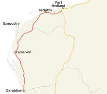 Australia Map Karratha.North West Coastal Highway Travel Guide At Wikivoyage